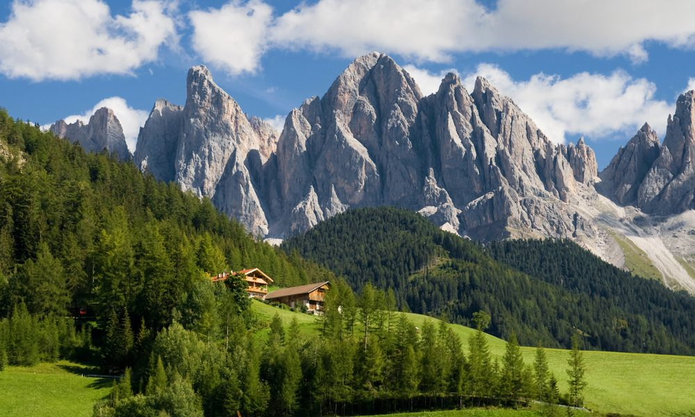 Peaks of the Odle group in the South Tirol, Italy.